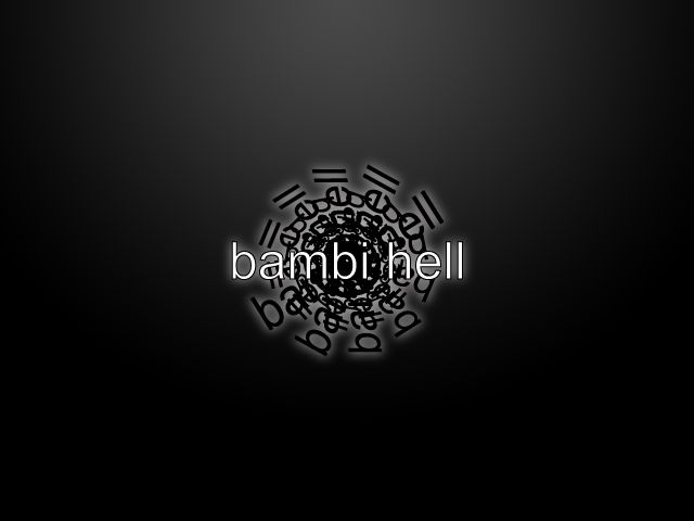 Asian Bambi Hell Logo - Spiral Name Like a Spiral Staircase in an enchanted underground castle